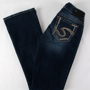 SILVER Suki Mid Boot Fluid Denim 27/33 Jeans